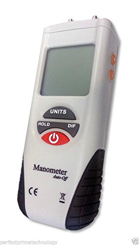 how to use a digital manometer to measure pressure