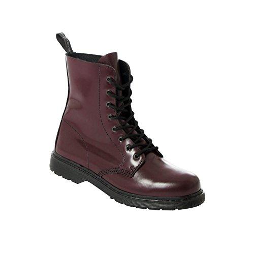Boots & Braces 8-Loch Schnür-Stiefel Easy Way Cherry Bordeaux