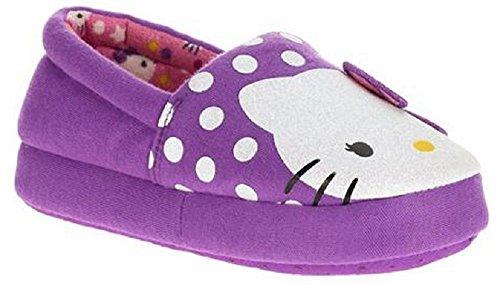 Hello Kitty Girl's Purple Slippers (7-8 M US Toddler)