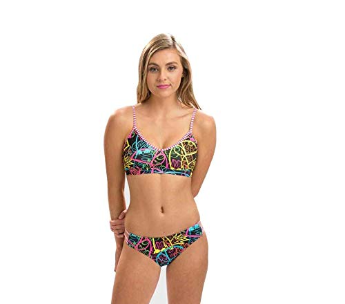 Dolfin Uglies Strappy 2-Piece Swimsuit (Graffiti Jungle, X-Large) ()