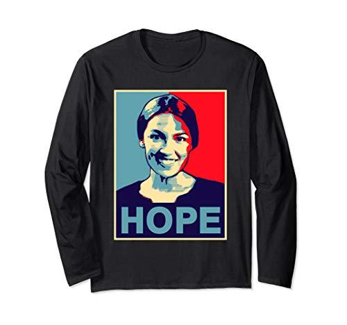 Alexandria Ocasio Cortez HOPE Long sleeve Tshirt Obama
