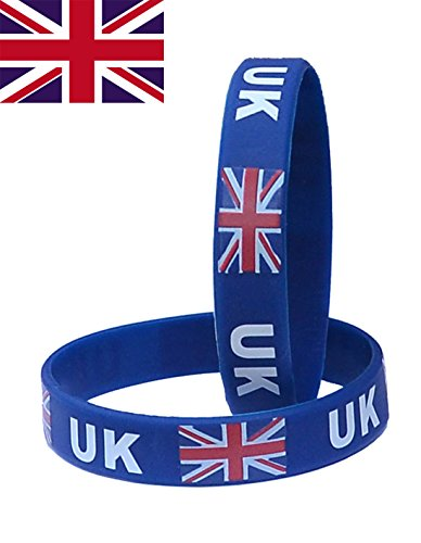 VEWCK Flag Silicone Bracelet Classic Bangle Letter pattern 40 countries 2-Pack