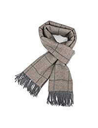 Super Soft Luxurious Classic Cashmere Feel Winter Scarf For Men Scarf For Women Plaid Scarf Beige