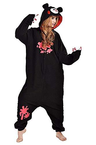 Women's Sleepwear Halloween Pajamas Onepiece Onesie Cosplay Costumes Kigurumi Animal Christmas (XL -for Height 175-183CM,Black Bear)