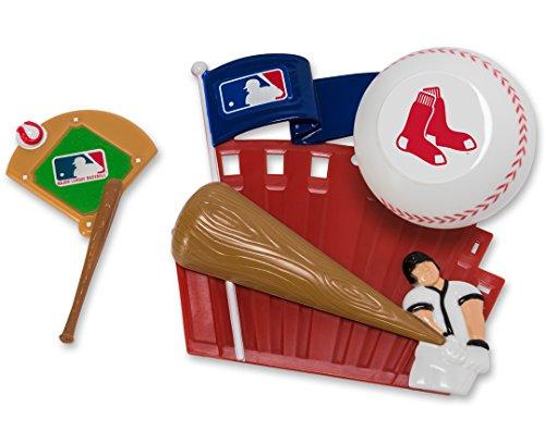 CAKEMAKE MLB Home Run, Cake Topper, Boston Red Sox (Red Cake Sox Topper)