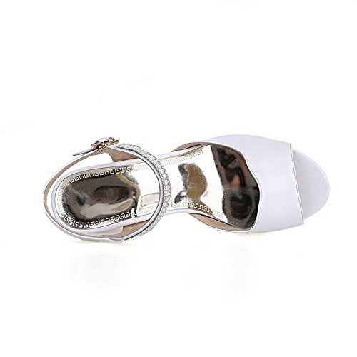 US Soft M 8 B Girls Fashion Solid Sandals 1TO9 White Material wxPITUnvq