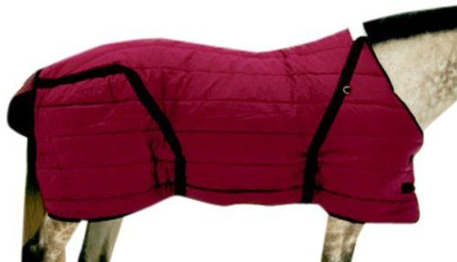High Spirit Snuggie Stable Blanket, 80-Inch, Burgundy/Black