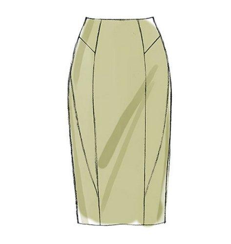 Vogue Patterns V8750 Size D5 12-14-16-18-20 Misses Skirt