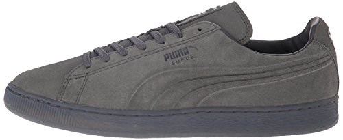 PUMA Men's Suede Emboss Iced Fashion Sneakers, Dark Shadow, 9 D US Photo #7
