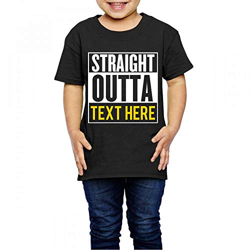 Waldeal DIY Straight Outta Timeout Graphic Tee Shirt for Girls Boys Out of Time Size 4 ()