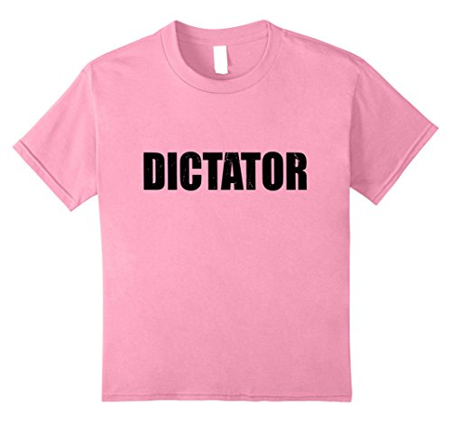 Kids Dictator T Shirt Halloween Costume Funny Cute Distressed 12 (Dictator Costume Girl)