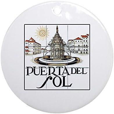 Puerta del Sol, Madrid – Adorno de España (redondo) – redondo vacaciones Navidad adorno: Amazon.es: Hogar