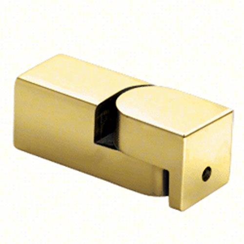 CRL SQ49BR Brass Adjustable Wall Mount Bracket for Square Bar