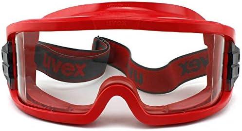 高いシール/間接通気型産業ゴーグル、傷のつきにくい/アンチフォグ/クリアレンズスプラッシュ安全ゴーグル、アウトドアスポーツゴーグル、赤 (Color : 5pcs)