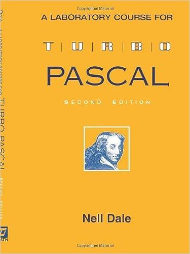 A Laboratory Course for Turbo Pascal: Amazon.es: Nell Dale: Libros en idiomas extranjeros