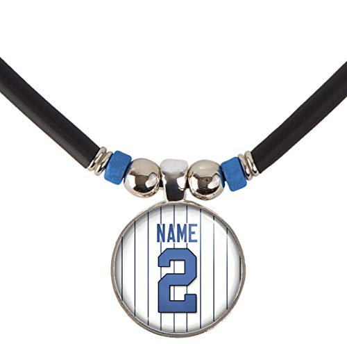 SpotlightJewels New York Personalized Baseball Jersey Necklace with Your Name and Number ()