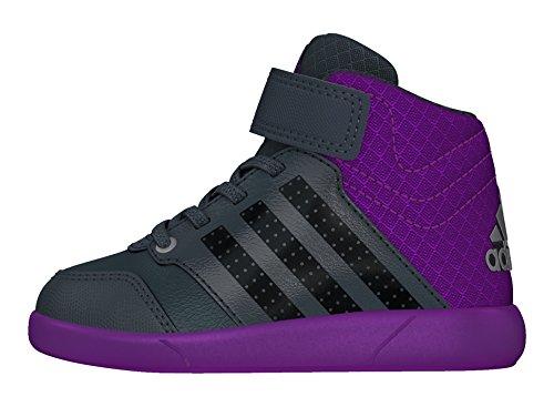 adidas Jan Bs 2 Mid I, Zapatos de Primeros Pasos para Bebés Azul (Onix / Griosc / Pursho)