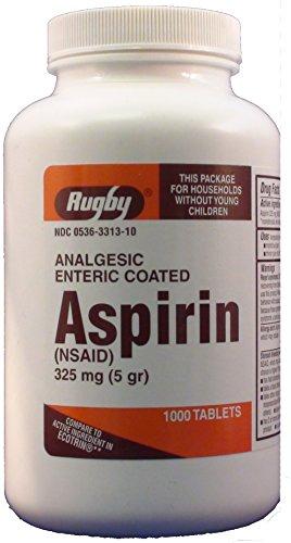 ASPIRIN TB 325MG 1000 EC ORNG by RUGBY LABORATORIES