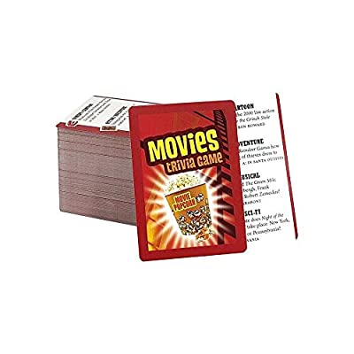 Movies Trivia Game - Fun Cinema Question Based Game Featuring 1200 Trivia Questions - Ages 12+: Toys & Games