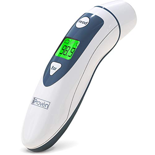 Medical Ear Thermometer with Forehead Function - iProven DMT-489 - Upgraded Infrared Lens Technology for Better Accuracy new by iProvèn