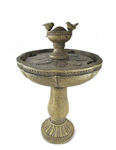 Dancing Waters Cordless Garden Fountain (Bronze) Bronze Garden Fountain