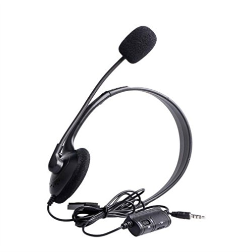Stheanoo Gaming Headset Earphone Wired Control Built-in Mic Headset for PC/Cell Phones/TV Headphone For Sony Playstation 4 and PS4 Controller