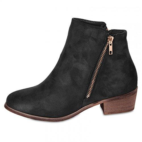 CASPAR Fashion - Botas para mujer Negro - negro