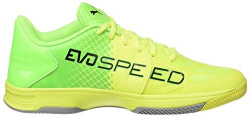 Puma Adulte safety green quarry Jaune Chaussures 03 Yellow Mixte Football puma Indoor 3 Gecko Black De 5 Evospeed 8vrqS8