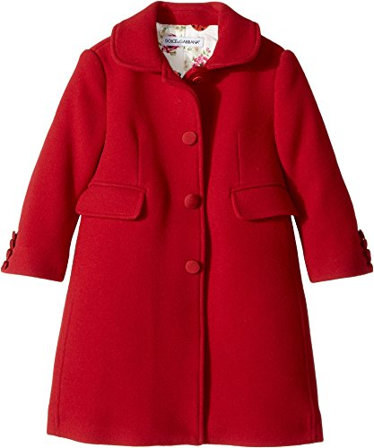 Dolce & Gabbana Kids Baby Girl's Back To School Wool/Cashmere Coat (Toddler/Little Kids) Bordeaux 2T (Toddler) by Dolce & Gabbana