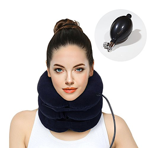 Hodilu Cervical Neck Traction Device - Improve Spine Alignment to Reduce Neck Pain - Cervical Pillow...