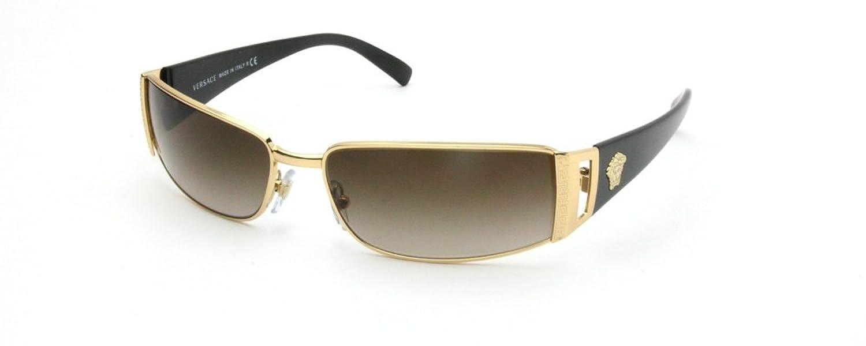 Amazon.com: Versace Sunglasses - 2021 / Frame: Gold/Brown Lens ...
