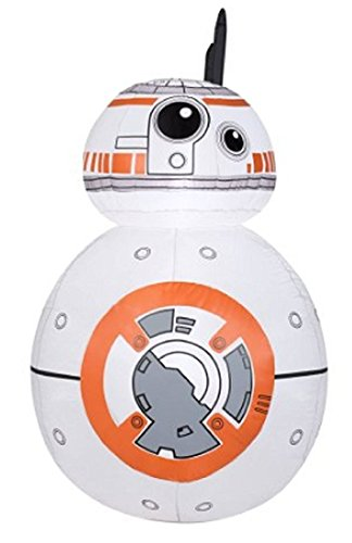 Gemmy Airblown Inflatable Droid BB-8 From Star Wars with 2 Flashing LED Lights - Holiday Decoration, 8-foot -