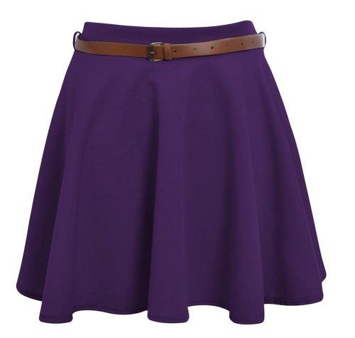 ML Femme 40 Violet Jupe Mini patineuse 42 Hot Hanger vOzxw0