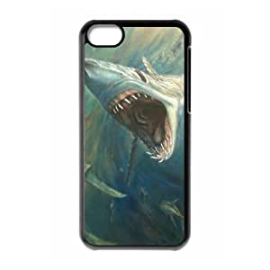 linJUN FENGProtection Cover Hard Case Of Deep Sea Shark Cell phone Case For ipod touch 5
