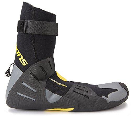 C-skins Unisex sesión 6 mm escarpines - punta redonda multicolor negro/amarillo Talla:4 multicolor - negro/amarillo