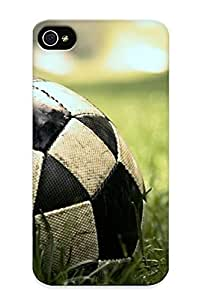 Slim Fit Tpu Protector Shock Absorbent Bumper Football In The Grass Case For Iphone 4/4s
