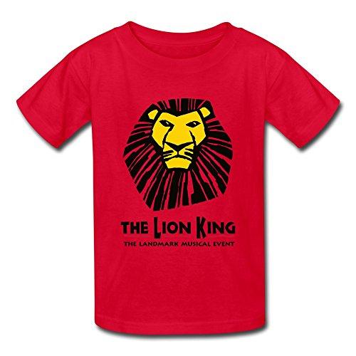 aopo el rey León el Landmark Musical Caso Camisetas Para Niños Unisex