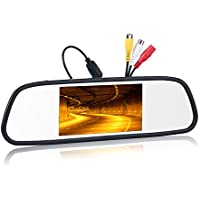 "Chuanganzhuo 5"" Rear View Mirror Monitor Screen-800x480 Pixels Digital TFT LCD 2 Video input PAL/NTSC DC 12V-24V, for Car Rear View Backup Camera,CCTV Camera DVD"