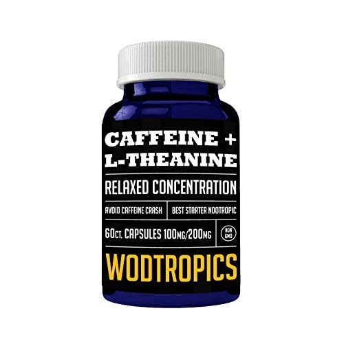 Caffeine and L-Theanine Capsules for Relaxed Focus, No Caffeine Crash and Alpha Brain Cognition – Caffeine + L-theanine Nootropic for Enhanced Mental Performance by WodTropic 100% 41yVfAQVeeL  Home Page 41yVfAQVeeL