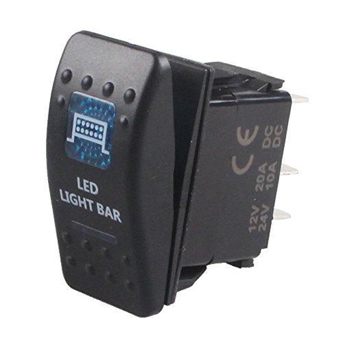 Lamp Bar Switch: E Support Car Blue LED Bar Light Toggle Switch