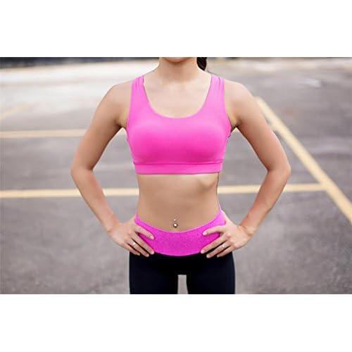 LUCKY-U Femme Sports Bra Couleurs différentes Support moyen Strappy Retour  Énergie Soutien-gorge 3f8de49805b