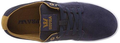 Tan Ii Navy Supra Sneaker Blau Herren white Stacks UwaUvxSY