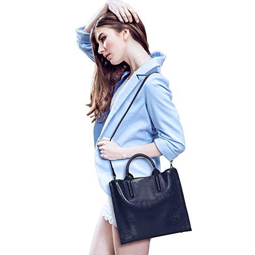 Blue Satchel Handbags - 8