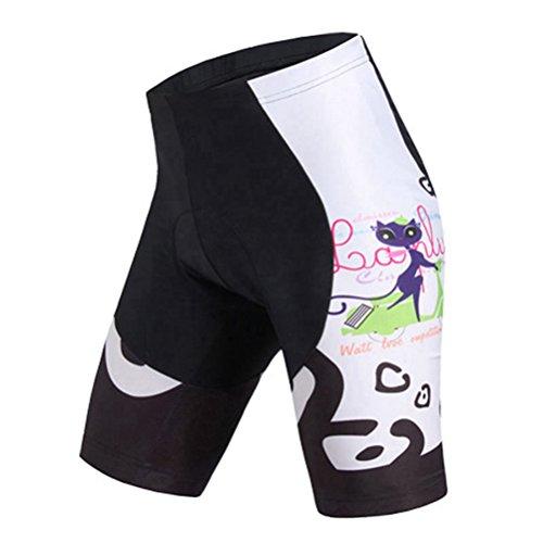 Uriah Women's Bicycle Shorts 3D Gel Padded Cat Pink Size 4XL(CN)