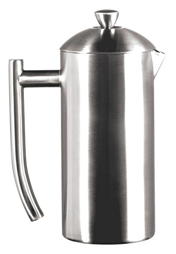 Frieling USA Double Wall Stainless Steel French Press Coffee Maker with Patented Dual Screen in Frustration Free Packaging, Brushed, - Frieling Stainless Steel Carafe