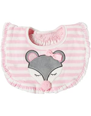 Baby-Girls Newborn Mouse Bib