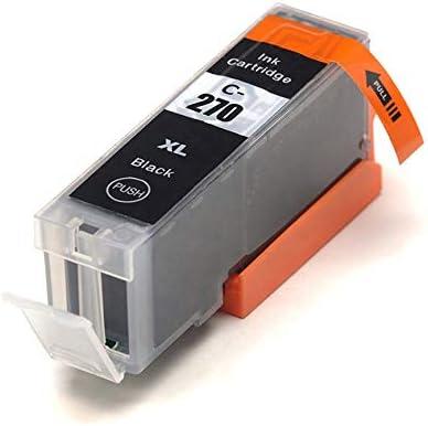2 PGBK, 2 Black, 2 Cyan, 2 Magenta, 2 Yellow 2 Gray, 12 Pack Ninjatoner Remanufactured Ink Cartridge Replacement for Canon 270XL 271 PGI-270XL CLI-271XL for PIXMA MG5722 MG6820 MG7720 TS8020 TS9020