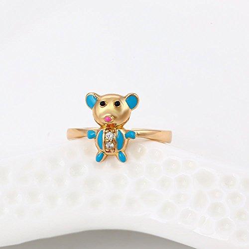xuping bebé pulsera y anillo chapado en oro de 18K niños joyas juegos Cyber lunes semana