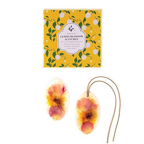 - Rosy Rings Oval Botanical Wax Sachets - Lemon Blossom & Lychee