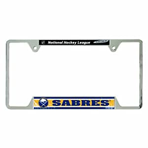 Amazon Com Nhl Buffalo Sabres Metal License Plate Frame